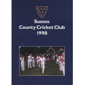 SUSSEX COUNTY CRICKET CLUB HANDBOOK 1998
