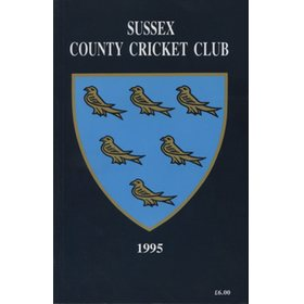 SUSSEX COUNTY CRICKET CLUB HANDBOOK 1995