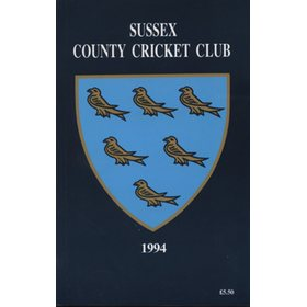 SUSSEX COUNTY CRICKET CLUB HANDBOOK 1994