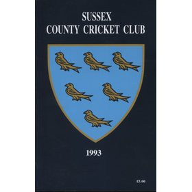 SUSSEX COUNTY CRICKET CLUB HANDBOOK 1993
