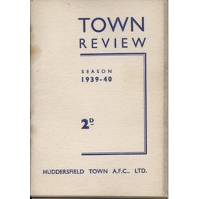 HUDDERSFIELD TOWN  FOOTBALL CLUB HANDBOOK 1939-40