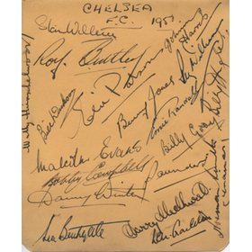 CHELSEA 1950 SIGNED ALBUM PAGE