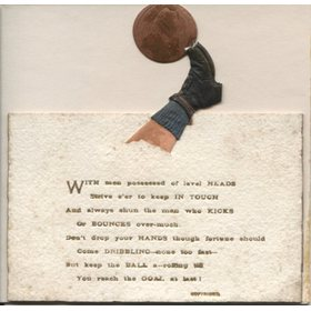FOOTBALL POETRY CARD 1895