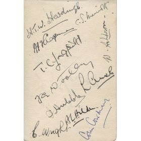 KENT 1920S CRICKET AUTOGRAPHS