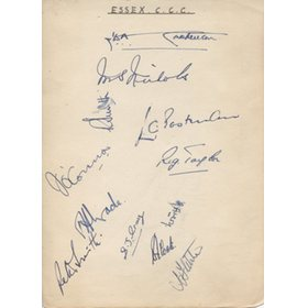 ESSEX CCC 1930S CRICKET AUTOGRAPHS
