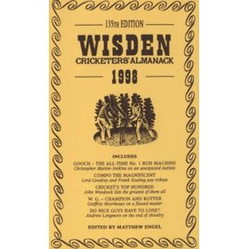 WISDEN REPLACEMENT DUST JACKET 1998