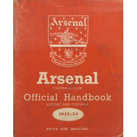 ARSENAL FOOTBALL CLUB 1953-54 OFFICIAL HANDBOOK
