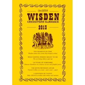 WISDEN TRADITIONAL-STYLE DUST JACKET 2013