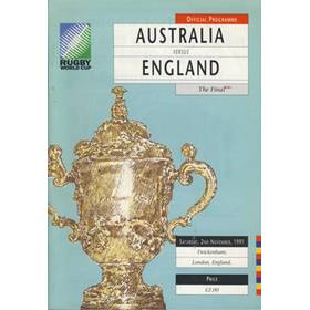 AUSTRALIA  V ENGLAND 1991 (WORLD CUP FINAL)