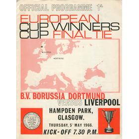 LIVERPOOL V BORUSSIA DORTMUND 1966 (ECWC FINAL) FOOTBALL PROGRAMME