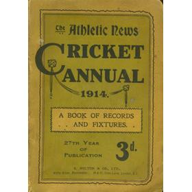 ATHLETIC NEWS CRICKET ANNUAL 1914