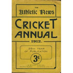 ATHLETIC NEWS CRICKET ANNUAL 1912