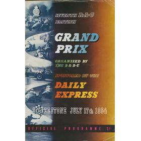 BRITISH GRAND PRIX 1954 official programme
