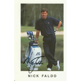 NICK FALDO SIGNED PHOTOGRAPH