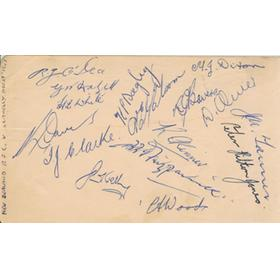 NEW ZEALAND SIGNED ALBUM PAGE 1953 (V LLANELLI)