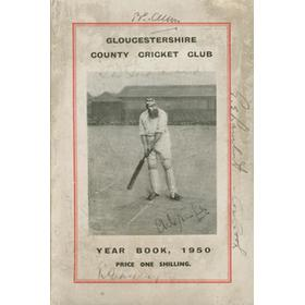 GLOUCESTERSHIRE COUNTY CRICKET CLUB YEAR BOOK 1950 (SIGNED BY 8 PLAYERS)
