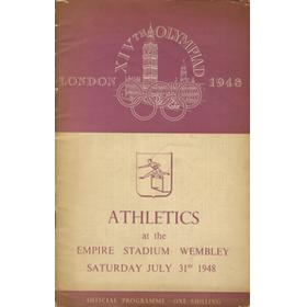 LONDON OLYMPICS 1948 - 31ST JULY ATHLETICS OFFICIAL PROGRAMME