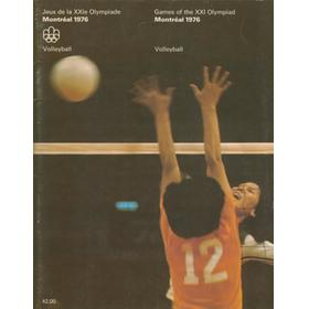 MONTREAL OLYMPICS 1976 - VOLLEYBALL BROCHURE