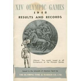 LONDON OLYMPICS 1948 - RESULTS & RECORDS BOOKLET