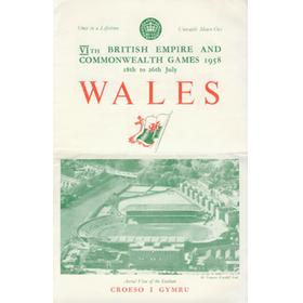 COMMONWEALTH GAMES CARDIFF 1958 PUBLICITY LEAFLET