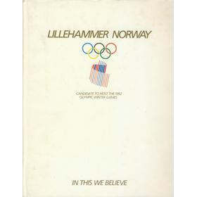 LILLEHAMMER NORWAY: CANDIDATE TO HOST THE 1992 OLYMPIC WINTER GAMES