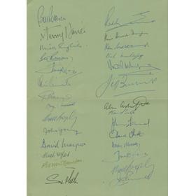 BRITISH LIONS 1959 (25 YEAR REUNION DINNER) SIGNED BY 24 OF THE TOURING PARTY