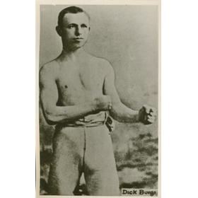 DICK BURGE (GREAT BRITAIN) BOXING POSTCARD