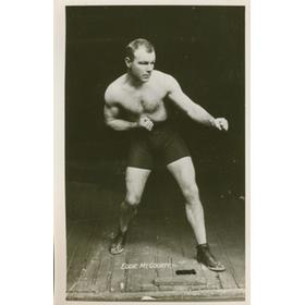 EDDIE MCGOORTY (USA) BOXING POSTCARD