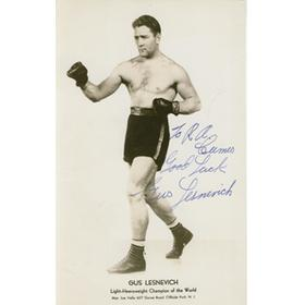 GUS LESNEVICH (USA) SIGNED PHOTOGRAPH