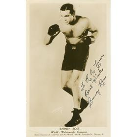 BARNEY ROSS (USA) SIGNED BOXING PHOTOGRAPH