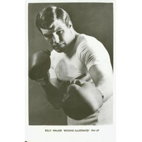 BILLY WALKER BOXING POSTCARD