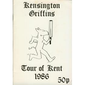 KENSINGTON GRIFFINS - TOUR OF KENT 1986