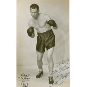 BILLY MCLEAN (SCOTLAND) SIGNED BOXING PHOTOGRAPH