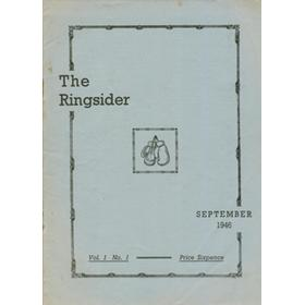THE RINGSIDER (VOL.1 NO.1) 1946
