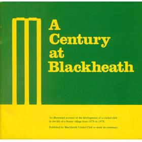 A CENTURY AT BLACKHEATH