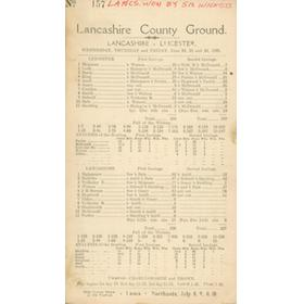 LANCASHIRE V LEICESTERSHIRE 1925  (OLD TRAFFORD)