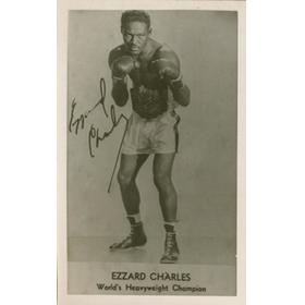 EZZARD CHARLES (USA) BOXING POSTCARD