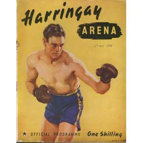 DAVE CROWLEY V ERIC BOON 1938 BOXING PROGRAMME