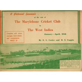 A PICTORIAL SOUVENIR OF OF THE VISIT OF THE MCC TEAM TO THE WEST INDIES 1948