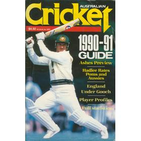 AUSTRALIAN CRICKET - ASHES 1990-91 GUIDE