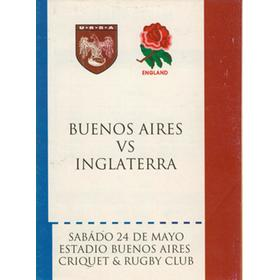 BUENOS AIRES V ENGLAND 1997 RUGBY PROGRAMME