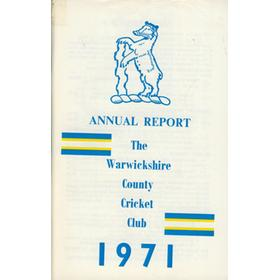 WARWICKSHIRE COUNTY CRICKET CLUB ANNUAL REPORT 1971