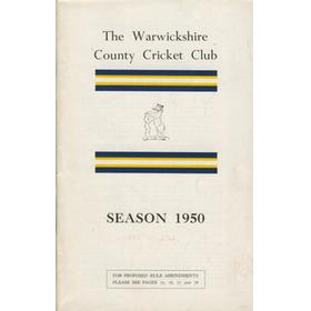 WARWICKSHIRE COUNTY CRICKET CLUB ANNUAL REPORT 1950