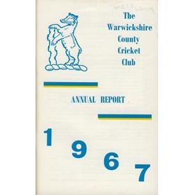 WARWICKSHIRE COUNTY CRICKET CLUB ANNUAL REPORT 1967