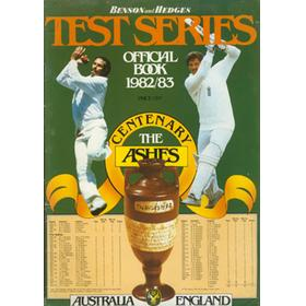 BENSON AND HEDGES TEST SERIES 1982-1983 OFFICIAL BOOK: AUSTRALIA V ENGLAND