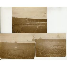 BOLTON V WEST HAM 1923 (F.A. CUP FINAL) 3 ORIGINAL PHOTOGRAPHS