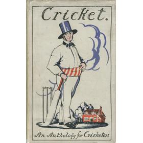 AN ANTHOLOGY FOR CRICKETERS