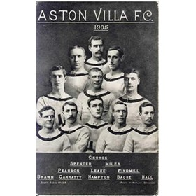 ASTON VILLA 1905 FOOTBALL POSTCARD