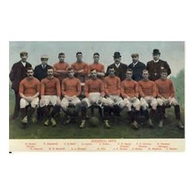BRISTOL CITY 1909 FOOTBALL POSTCARD