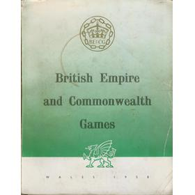 6TH COMMONWEALTH GAMES WALES 1958 OFFICIAL BROCHURE